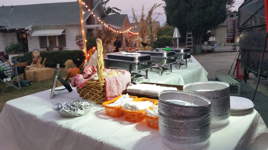 Fall Home Wedding Reception