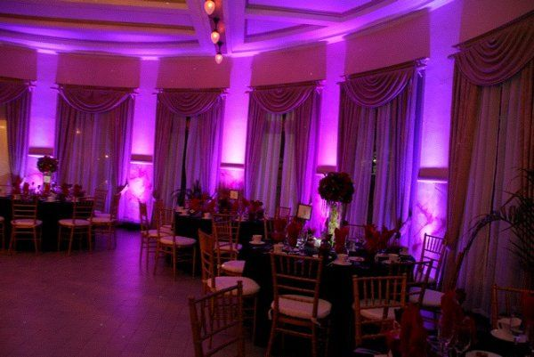 Purple and fuscia uplighting
