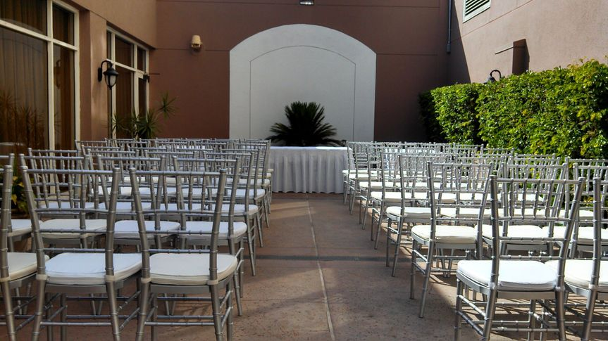 ceremony silver chair