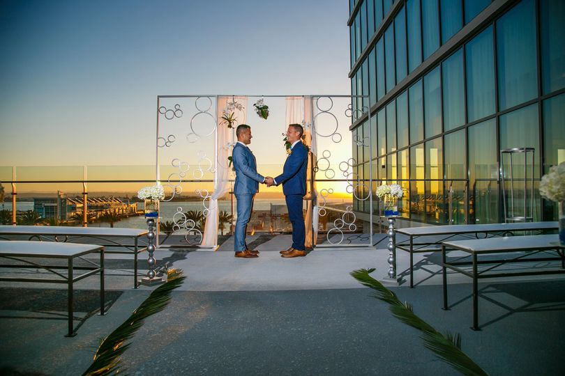 Grooms at Ceremony Site