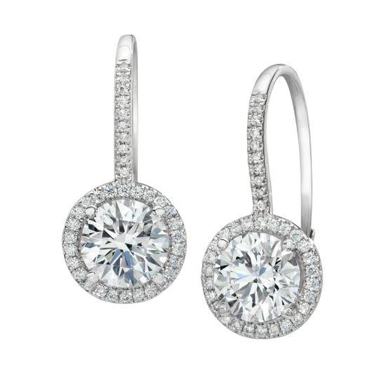halo drop earrings
