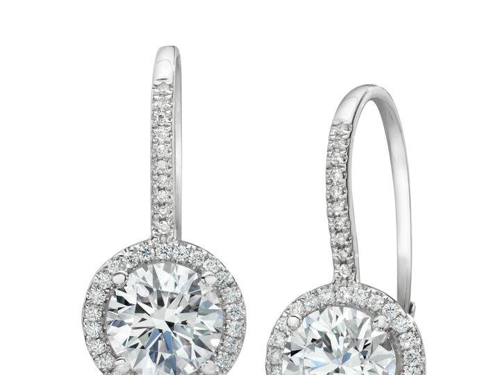 Tmx 1466783725293 Halo Drop Earrings Sarasota wedding jewelry