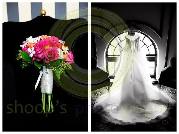 Citizen Hotel Wedding Dress and Flowers