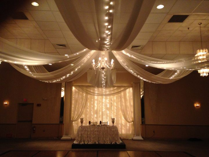 Ceiling Draping with Lighting