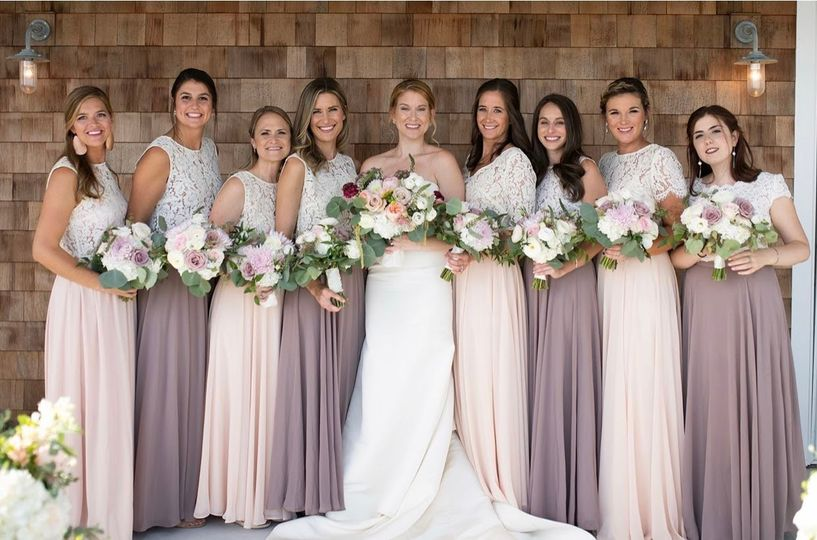 Pretty Bridesmaids in Neutrals
