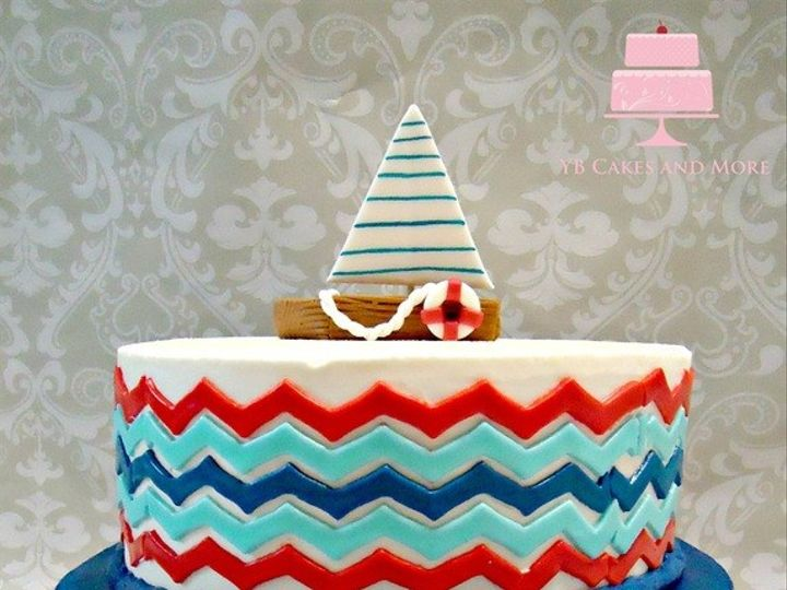 Tmx 1467614949159 Nautical Baby Shower Cake Fort Worth wedding cake