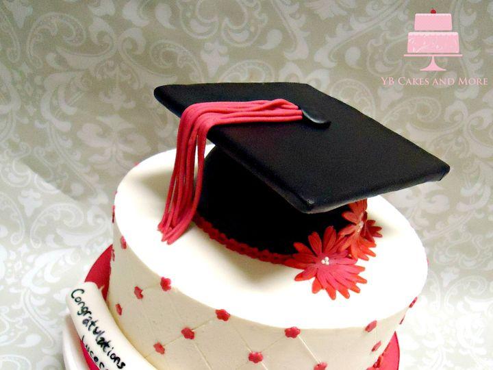 Tmx 1467614961040 Pink Floral Graduation Cake 2 Fort Worth wedding cake