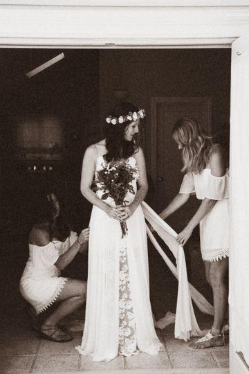 Dressing before ceremony