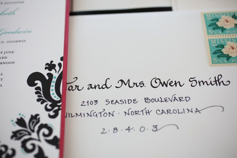Calligraphy By Carrie Invitations Crossnore Nc