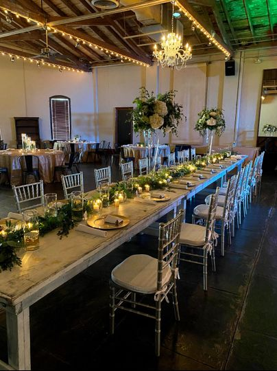 Head Table with Chivari Chairs