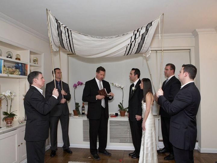Tmx 1385492370573 Ali And Jay Brosss Chuppa New York, NY wedding officiant