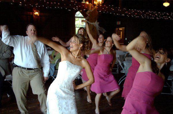 BrideDancingWithBridesmaids