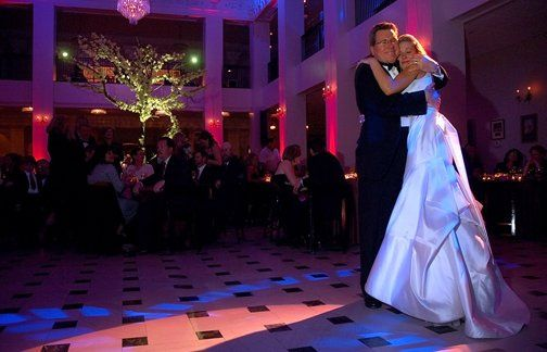 Father Daughter Dance with Elegant Uplighting presented by American Bride DJ Entertainment.