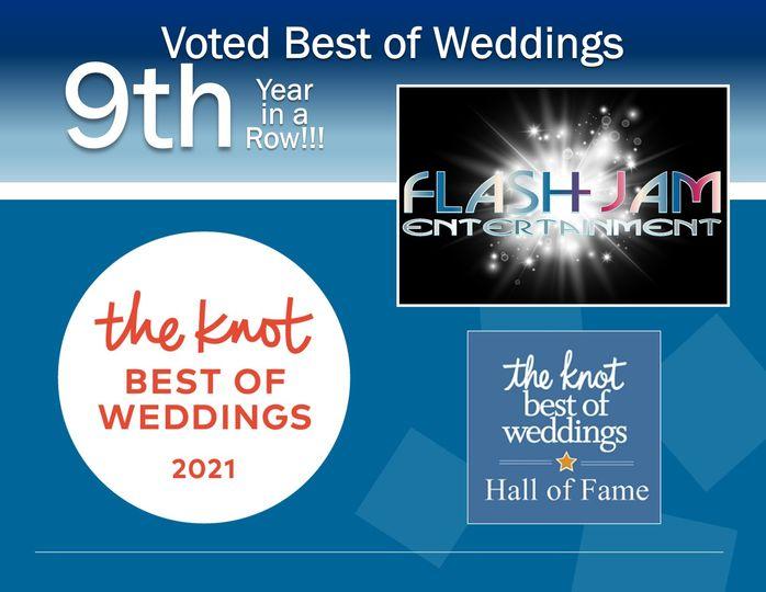 Voted Best of Weddings 9 Years
