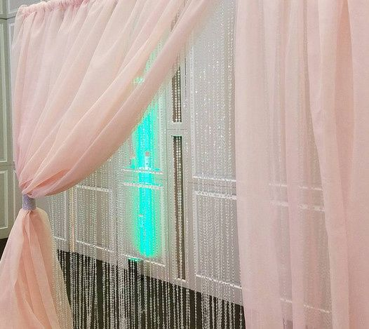 Pink curtains
