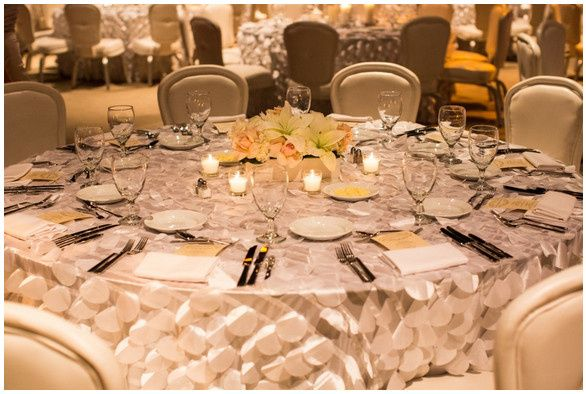 Tmx 1369599041222 White Petal Tablecloths Woodbridge, District Of Columbia wedding rental