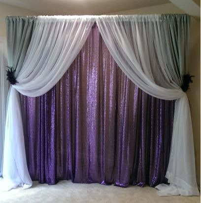 Tmx 1493434879012 Backdrop In Purple Sequin Woodbridge, District Of Columbia wedding rental