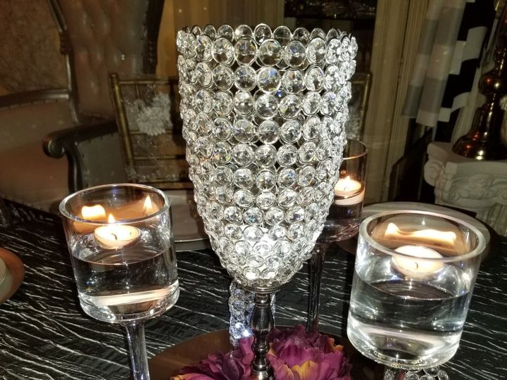 Tmx 15 Inch Crystal Candle Holder With Floral Centerpiece 51 30168 158280606163831 Woodbridge, District Of Columbia wedding rental