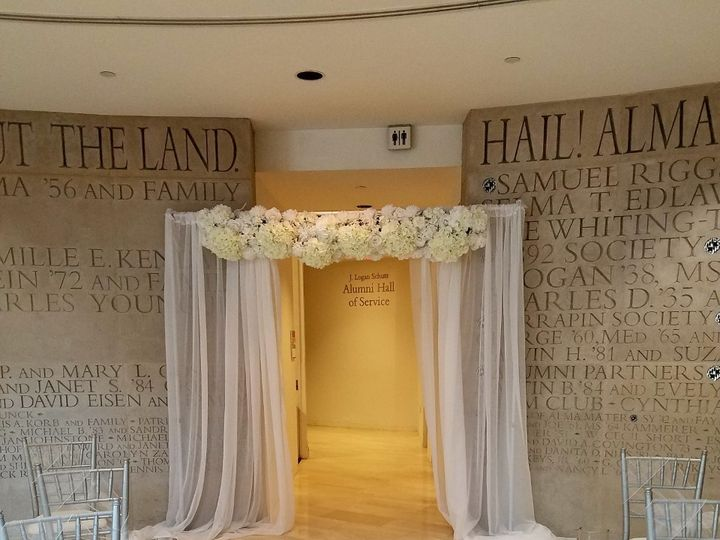 Tmx 1505654180761 Ceremony Backdrop With Floral Garland Woodbridge, District Of Columbia wedding rental