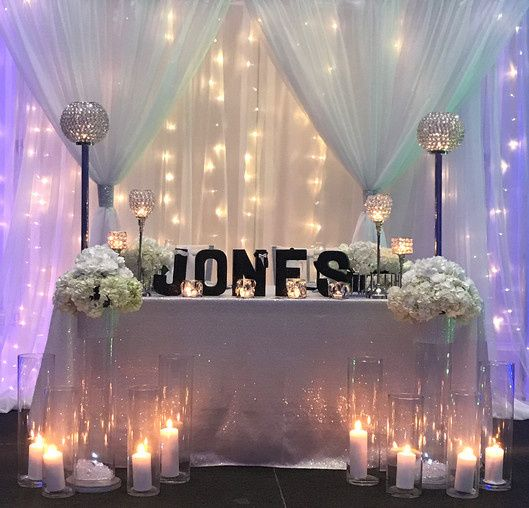 Tmx 1505654247171 Sweetheart Table With White Sequin Tablecloth Woodbridge, District Of Columbia wedding rental
