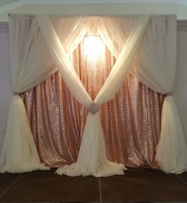 Tmx Blush Sequin And Ivory Sheer Backdrop With Chandelier 51 30168 157947243538795 Woodbridge, District Of Columbia wedding rental