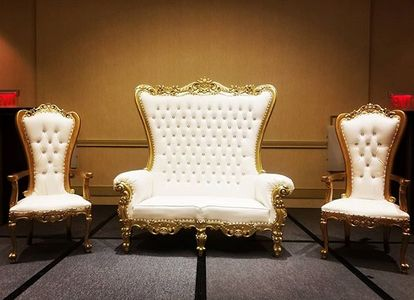 Tmx Throne Chairs And Loveseat Gold Trim 51 30168 157947360714087 Woodbridge, District Of Columbia wedding rental