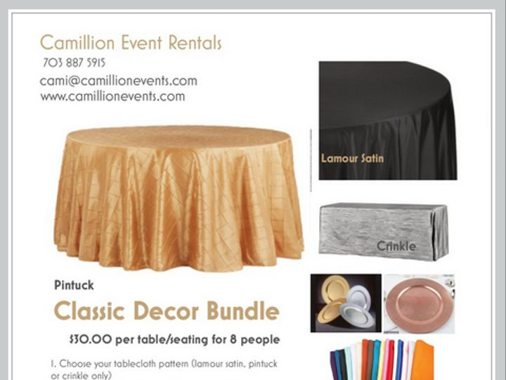 Tmx Updated Classic Decor Bundle 51 30168 158280600096605 Woodbridge, District Of Columbia wedding rental
