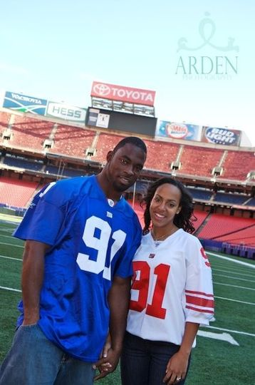New York Giants Justin Tuck and His wife LAURAN. Married at St Paul's Cathedral and reception at the...