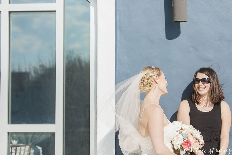 A moment with the bride before going down the aisle.. I love my brides!   Photography by Love Tree...
