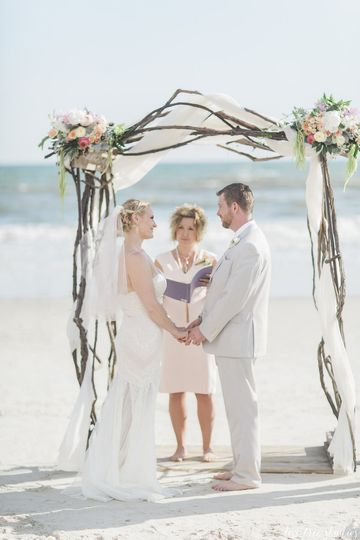 Beautiful Ceremony! Congrats Arminta & Chris!  Photography by Love Tree Studios Florals by Brunswick...