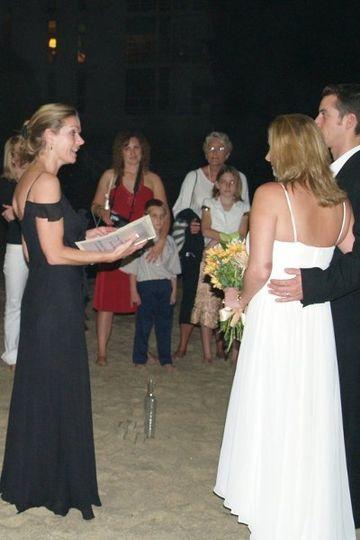 15 year Anniversary Vow Renewal Ceremony on Laguna Beach California ceremony by Beverly Mason...
