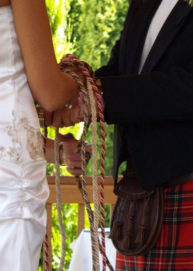 Based on a Celtic tradition of Hand fastening. Cords wrapped with each vow. Tie the Knot. Beverly...