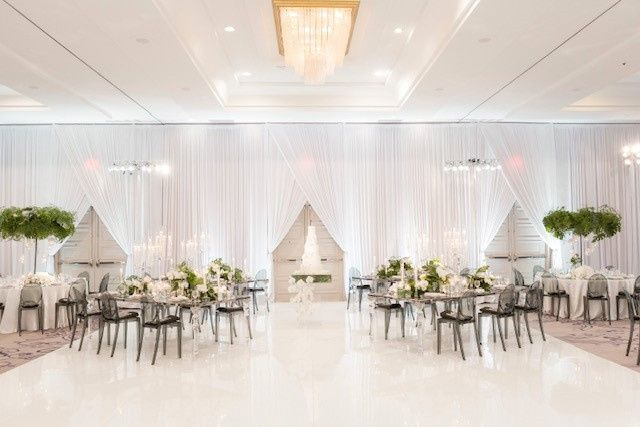 Draping, dance floor, Lighting