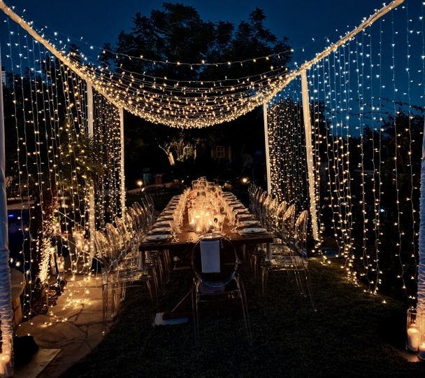 Twinkle lighting canopy