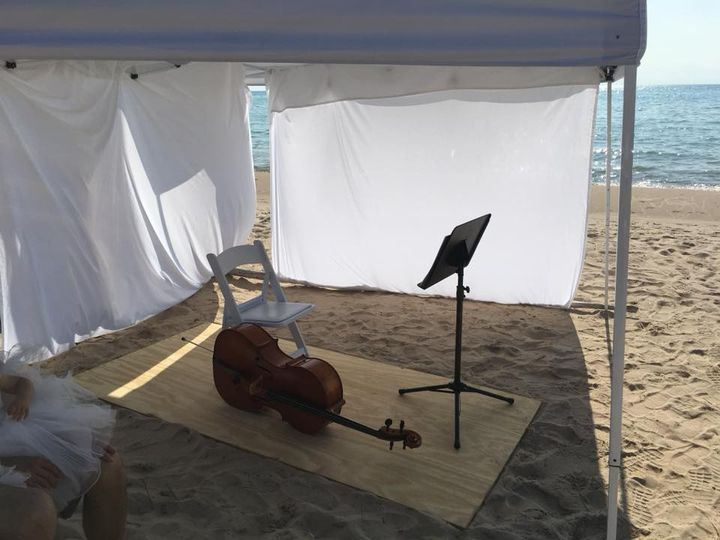 Cello at the beach