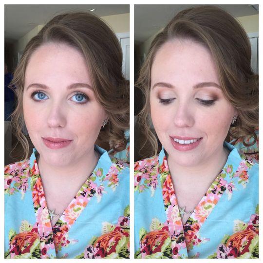 Soft and natural makeup look