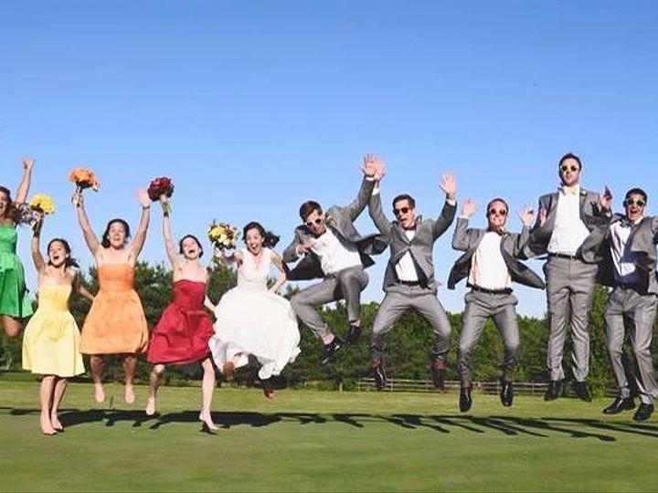 Tmx 1495474678265 Wedding Random Rainbow Bridesmaids Jump Panoramic  wedding dj