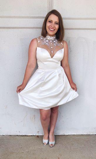 Sparkly white dress!
