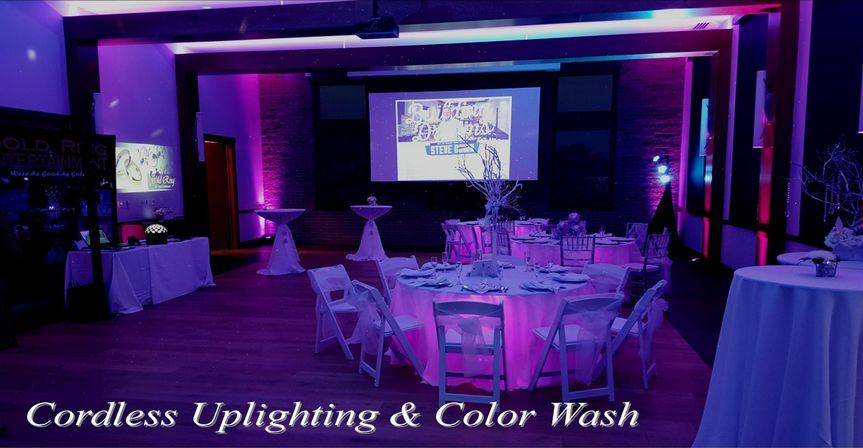 Cordless Uplighting, Color Wash, LED Strip, Uplit Tables