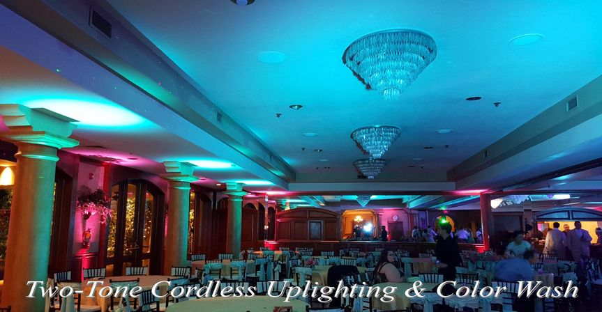 Two-Tone Cordless Uplighting & Color Wash