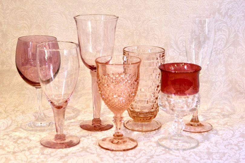 Goblets:  Pink