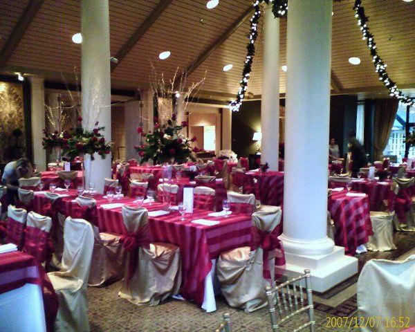 The Country Club of Little Rock was decorated with some of Party Time's fine linens, gold chiavari...