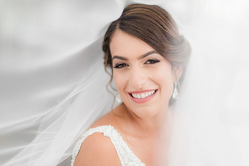 Fresh wedding makeup look