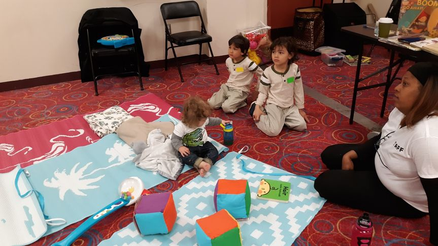 Providing childcare for an event