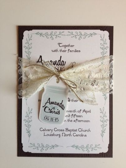 Rustic country charm! Lace and twine