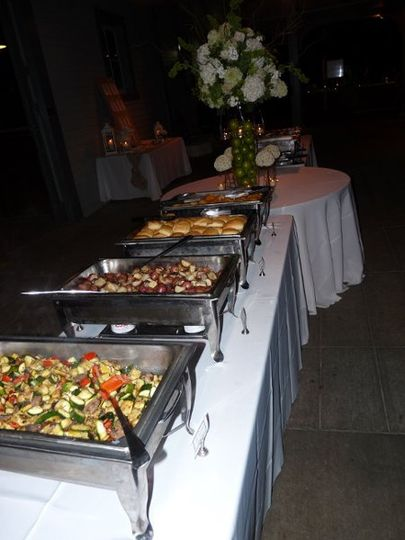 Open Buffet at a wedding. Yummy!