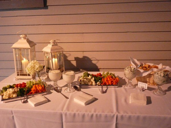 Appetizer Station at a wedding