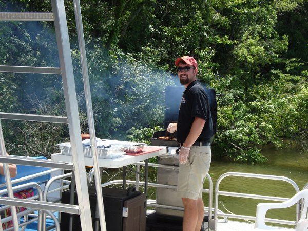 Company Party-grilling on a boat