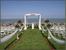 Gazebo Ceremoney set up on Lake Erie