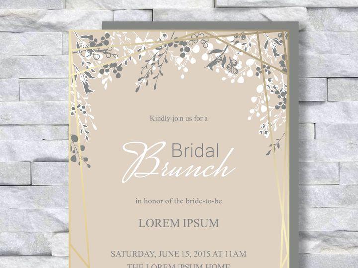 Tmx Gold With Flowers 2 51 644268 158533617464223 Altoona, PA wedding invitation
